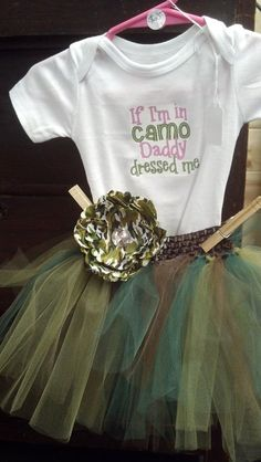 If Im wearing camo tutu outfit by OliviasBowtiqueShop on Etsy, $25.00