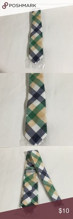 """Plaid Green Blue Apparatus Bespoke Tie New with tags Men's Apparatus Bespoke Collection green beige blue plaid flannel like tie. Perfect for a Halloween costume. 56"""" long 3"""" wide. Accessories Ties"""