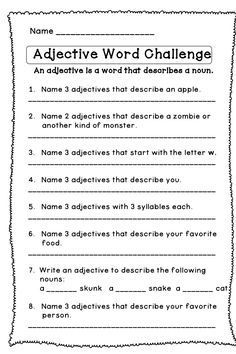 Here's a (free) fun way to review adjectives. This is a part of a larger paid product. Enjoy!
