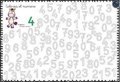 Tipss und Vorlagen: Numbers coloring pages free printable preschool Numbers For Kids, Numbers Preschool, Learning Numbers, Preschool Math, Kindergarten Worksheets, Worksheets For Kids, Activities For Kids, Math For Kids, Fun Math