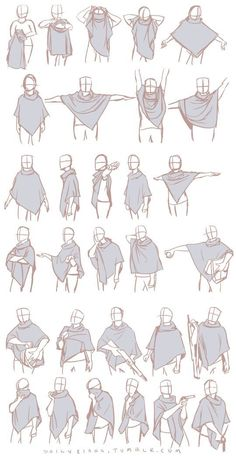 This may simply seem like some practice poses with a piece of clothing, but pay attention to how dynamic the cloth seems and how it livens up the image.