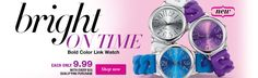 Bold Color Link Watch - only $9.99 with every $15.00 purchase Bold Colors, Avon, Shop Now, Campaign, Watch, Link, Shopping, Bright Color Schemes, Bracelet Watch