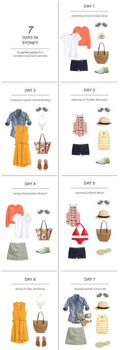 7 Days in Sydney : The Perfect Pieces for a Versatile Honeymoon Wardrobe…