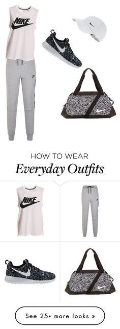 NIKE workout outfit/ everyday outfit by awesomesauce3001 on Polyvore featuring NIKE