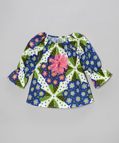 Take a look at this Purple Flower Peasant Top - Toddler & Girls by SILLY MILLY on #zulily today!
