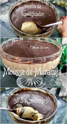 Passion Fruit Mousse Recipe with Chocolate - Amazing! - Passion Fruit Mousse Recipe with Chocolate – Amazing! Passion Fruit Mousse, Ramadan Recipes, Spinach Stuffed Chicken, I Love Food, Nutella, Sweet Recipes, Bakery, Sweet Treats, Food And Drink