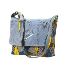 Recycled Denim & Print Bag