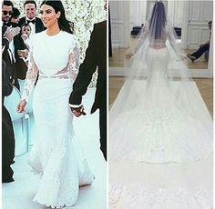 Kim kardashian wedding dress- Givenchy Perfect combination of traditional and sexy