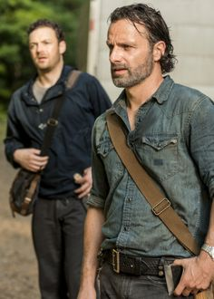 """""""Rick Grimes and Aaron in The Walking Dead Season 7 Episode 7 