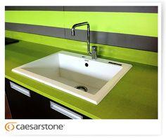 Caesarstone Apple Martini, 2710, kitchen countertop showcased by Dekora at Expo Casa 2012. Costa Rika
