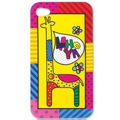Giraffe Colourful Cover for iPhone 4
