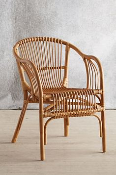 Comes in purple. Pari Rattan Chair #anthropologie