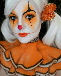 Orange And Black Clown Makeup - Every Kind of Clown Makeup You'd Possibly Want to Try This Halloween  - Photos