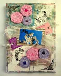 RECYCLING AND FLOWERS - CANVAS- GDT ANA