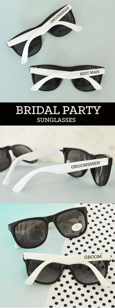 Groomsmen Sunglasses Groom Sunglasses Bachelor Party Gifts Ring Bearer Sunglasses Ring Security Groomsmen Gift (EB3121) …