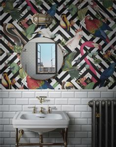 Introducing Divine Savages and Their Ultra Glamorous Wallpaper – Dear Designer – Wallpaper Wallpaper Designs For Walls, Funky Wallpaper, Bathroom Wallpaper, Print Wallpaper, Wallpaper Ideas, Wallpaper Toilet, Eclectic Wallpaper, Interior Design Wallpaper, Botanical Wallpaper