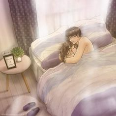 Anime Couples Sleeping, Couple Sleeping, Romantic Anime Couples, Cute Couples, Love Cartoon Couple, Cute Love Cartoons, Manga Couple, Anime Love Couple, Cute Couple Drawings