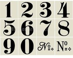 stencils for table numbers