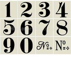 plantillas numéricas