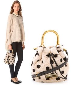 Marc Jacobs 'Too Hot To Handle' Polka Dot Fur Bag!