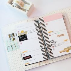 I can't tell you how much I am loving my @heidiswapp personal sized planner. I…