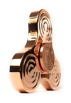 SPIN ME COPPER | Top Metal Fidget Spinner | Luxury Quality | Engineered for long spins (3-8min), High Speed, Ultra-Durable | Helps with EDC, ADHD, Autism, and Increase Focus | Original by NOUSTS Metal Fidget Spinner, Hand Spinner, Fidget Spinners, Wrist Watch Phone, Fidget Toys, Fitness Tracker, Smart Watch, Bluetooth, High Speed