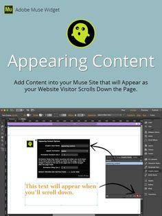 Appearing Content Adobe Muse Widget. Plug-ins. $5.00