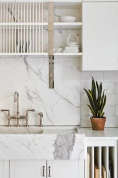 Shelving above sink