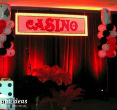 Great #decor for a #casino themed party!