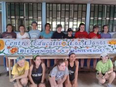The Academy of Notre Dame group after a day of service in Monteverde.