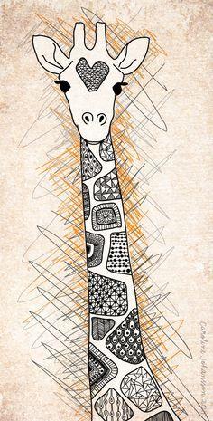 girafa padrão-pescoço-caroline-johansson-ilustração