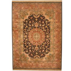 Herat Oriental Indo Hand-knotted Tabriz Wool & Rug