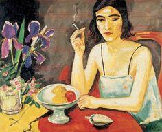Max Pechstein (1881-1955) was een Duits kunstschilder. Pechstein wordt gezien als een belangrijk vertegenwoordiger van het expressionisme. In 1902 werd hij lid van de later beroemd geworden kunstenaarsgroep Die Brücke.In die tijd bezocht hij vaak samen met Heckel en Kirchner de omgeving nabij Dresden. Net als Schmidt-Rottluff en Nolde werden zij er geconfronteerd met het eenvoudige plattelandsleven, dat sterk hun kleurenpalet beïnvloedde. (1925)