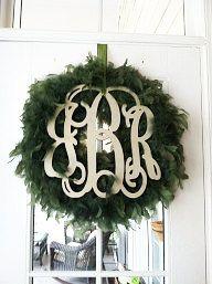 """20"""" Vine Script Three Letter Monogram- Wood Letter monogram-home decor- wedding decor on Etsy, $25.00"""