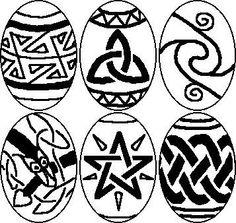 Ostara Egg ideas/stencils?