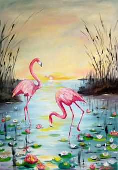 Pink flamingo original oil painting Colorful canvas wall art Bird animal large painting Each picture brings a different mood. This painting is filled with a lot of tenderness and harmony of colors, and therefore it lends itself with relaxation, tranqu Flamingo Painting, Flamingo Art, Pink Flamingos, Large Painting, Acrylic Painting Canvas, Gouache Painting, Spray Painting, Painting Frames, Christmas Paintings On Canvas