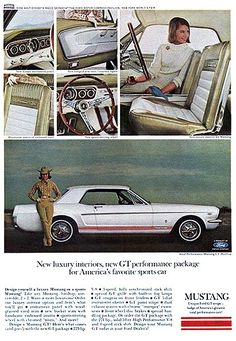 mustang Car ads | old car ads home | old car brochures | old car manual project ...