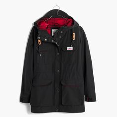 Massachusetts-based Penfield has been churning out top-notch, weather-resistant outerwear—coveted by fans of heritage-style clothing and outdoor enthusiasts alike—since 1975. This superwarm parka has cozy fleece-lined pockets for chilly hands—and a bold plaid lining that can be found here and only here. <ul><li>True to size.</li><li>Teflon-coated cotton/nylon.</li><li>Hand wash or dry clean.</li><li>Import.</li></ul>