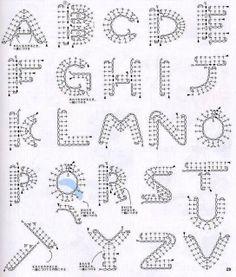 Alphabet diagram ONLY ♥LCM♥-----Solo esquemas y diseños de crochet: ABECEDARIO TEJIDO