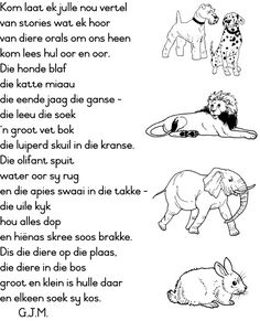 Posts about diere gedigte written by Nikita Grade R Worksheets, Worksheets For Kids, Character Education, Kids Education, Physical Education, Preschool Learning, Classroom Activities, Afrikaans Language, Elementary Counseling