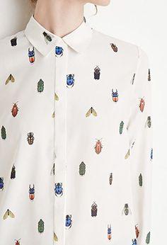 Contemporary Bug Print Shirt