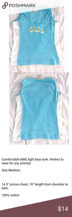 NIKE Tank Top blue White green sz M See details above.   Remember you have great style! Nike Tops Tank Tops