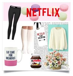 """netflix for days"" by shopoholic0708 ❤ liked on Polyvore featuring Ladurée, Topshop, Kate Spade, Casetify and ASOS"