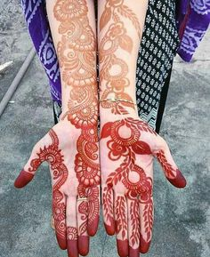 fronthand with arm mehndi design ideas - Full Mehndi Designs - Hand Henna Designs