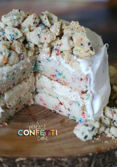 Perfect Homemade Confetti Cake #confetti #cake #sprinkles