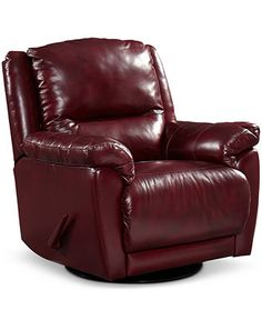 Tobyn Leather Recliner Chairs Recliners Furniture Macy 39 S Living Room Pinterest