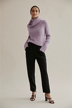 Shop Women's Knitwear at Country Road. All new season styles and colours are available in store and online now. Pleated Shirt, Shirt Dress, Travel Wardrobe, Shoe Size Conversion, Baby Alpaca, Knit Cardigan, Beautiful Outfits, Knitwear, Winter Fashion