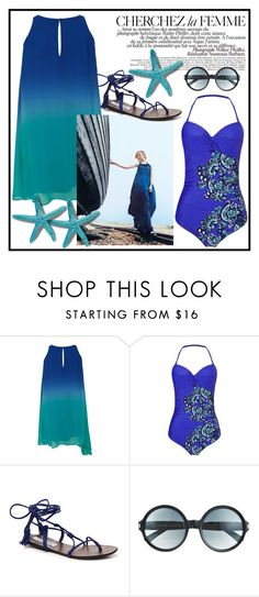 """""""Summer Vibes"""" by love88-90 ❤ liked on Polyvore featuring Phase Eight, La Femme, Steve Madden and Tom Ford"""