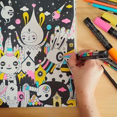 Coloring Book Interview Series, #12: Muxxi   Doodlers Anonymous