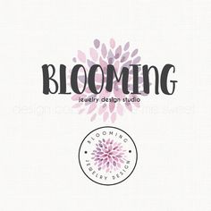 Premade Watercolor Flower Logo Logo Stamp by stylemesweetdesign